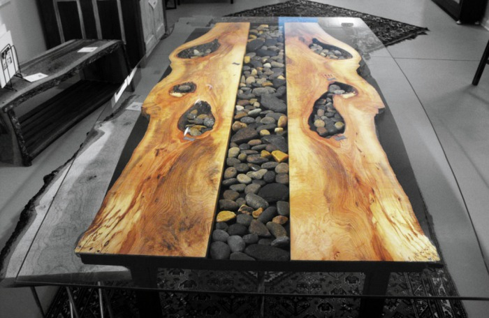 Sticks And Stones Steel Root Furniture Modern Wood And
