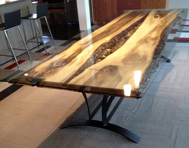 Steel Root Furniture, Modern Wood And Metal Furniture, Slab ...